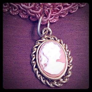 2 for $20 Express Pink Cameo Choker Necklace